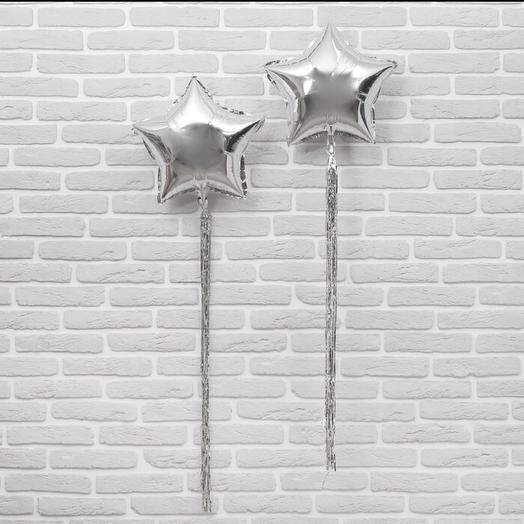 Шар звезда (серебро)с хвостом