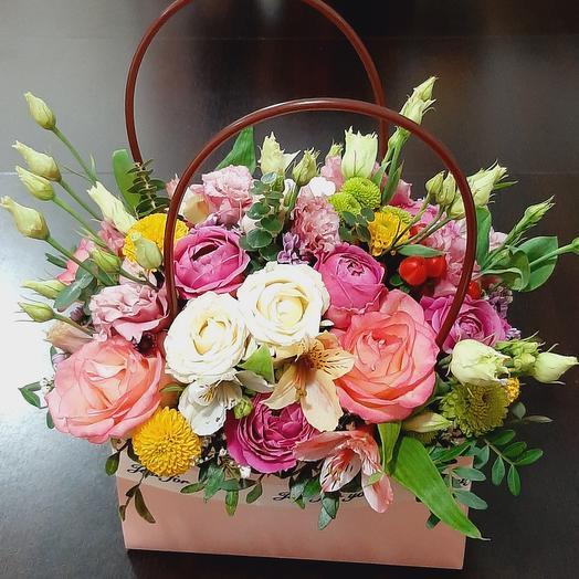 Цветочки в сумочке