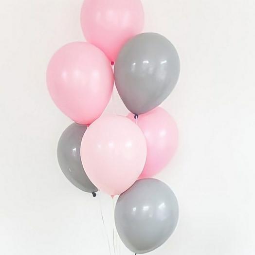 """Связка """"наивная нежность"""", 7 шаров"""