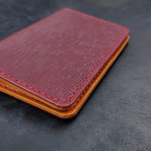 Обложка для паспорта и документов из натуральной кожи