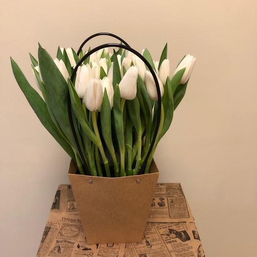 Крафт Пакет с 41 тюльпаном