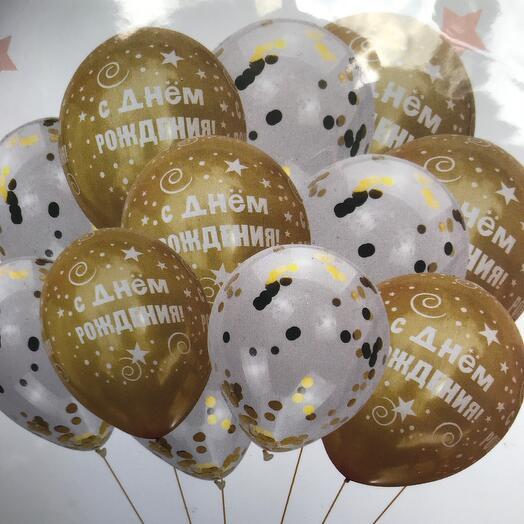 Фонтан из шаров «С Днём рождения»