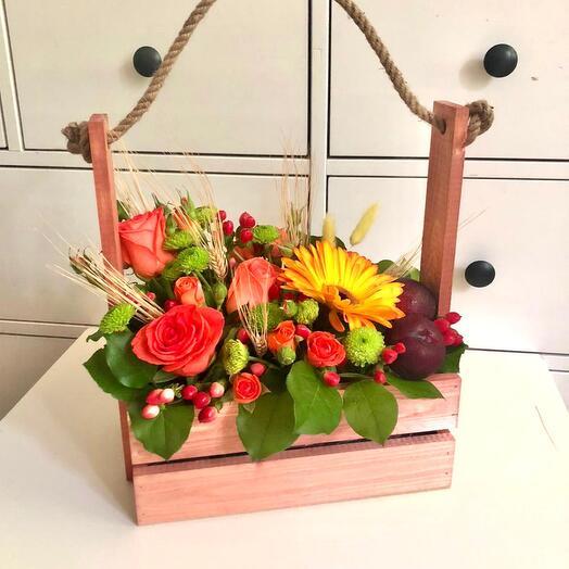 Ящик с цветами «оранжевое небо»