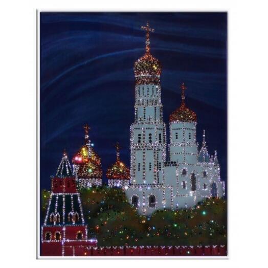 """Картина с кристаллами Swarovski """"Колокольня Ивана Великого"""""""