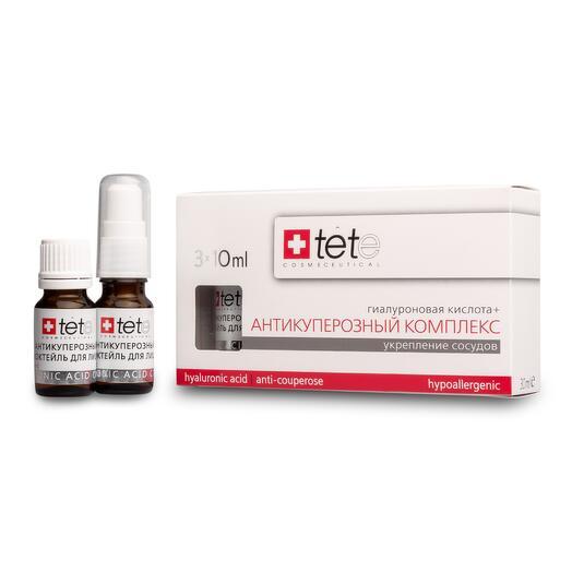 Гиалуроновая кислота + Антикуперозный комплекс / TETe Hyaluronic acid + Anticouperose complex 3*10 ml