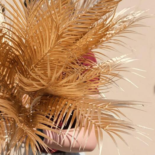 Искусственный лист пальмы золотой