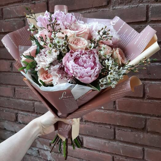 Букет delicate pink