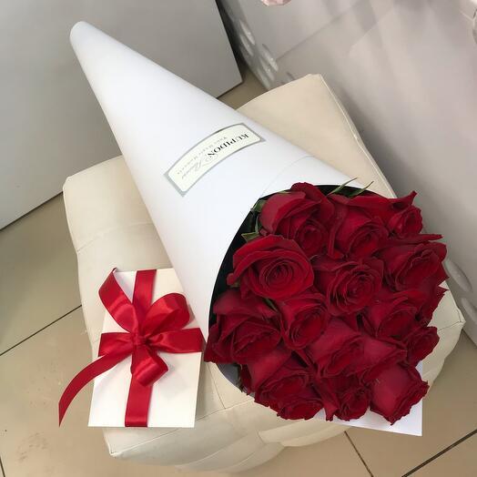 Конус на 17 роз