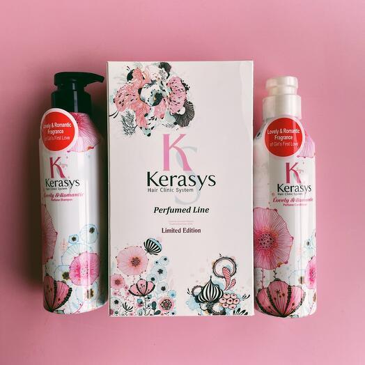 Набор Kerasys Шампунь+Кондиционер для волос Романтик 400 мл Для поврежденных волос