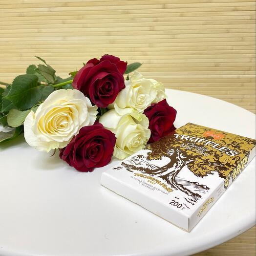 Розы и шоколад