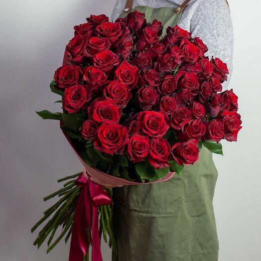 Букет громадных роз из Эквадора