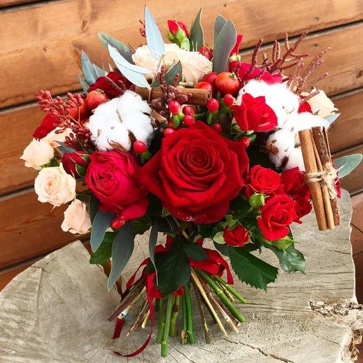 "Теплый букет ""Согрей меня"": букеты цветов на заказ Flowwow"