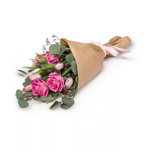 Букет в крафте №2: букеты цветов на заказ Flowwow
