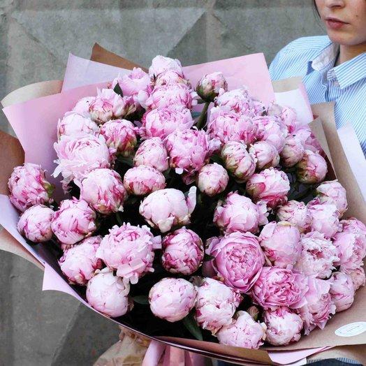 Букет пионов Сара Бернар 0924: букеты цветов на заказ Flowwow
