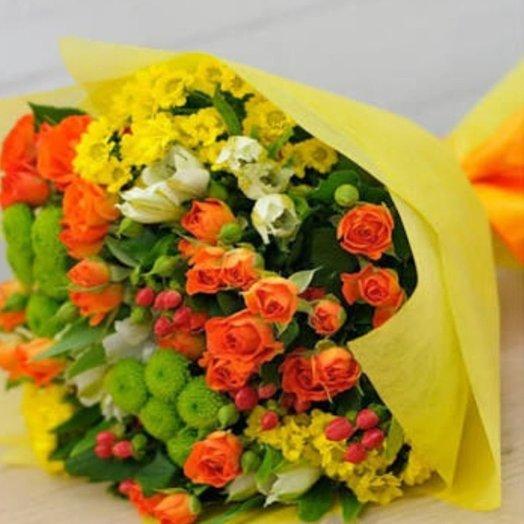 Яркий букетик микс: букеты цветов на заказ Flowwow