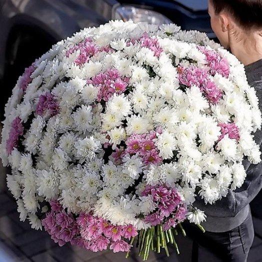 101 хризантема: букеты цветов на заказ Flowwow