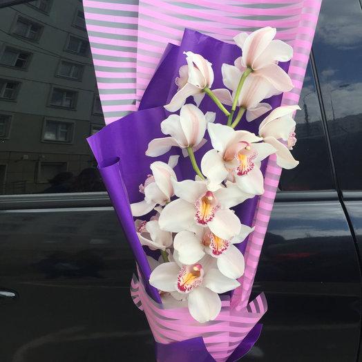 Грациозная орхидея: букеты цветов на заказ Flowwow