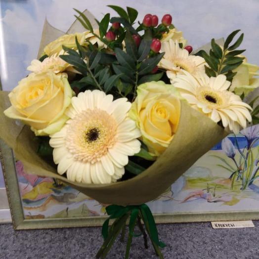 Нежный крем.: букеты цветов на заказ Flowwow