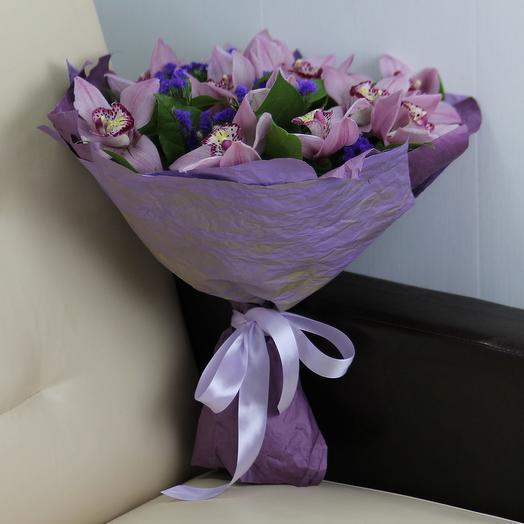 Букет розовых орхидей: букеты цветов на заказ Flowwow