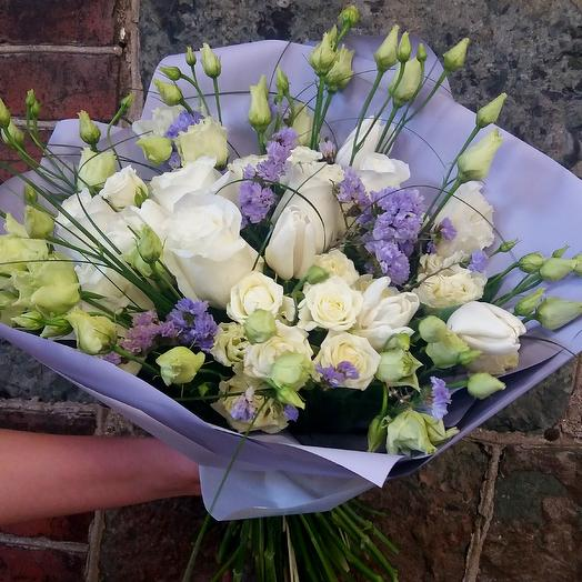 Букет из эустомы, Будь моей: букеты цветов на заказ Flowwow