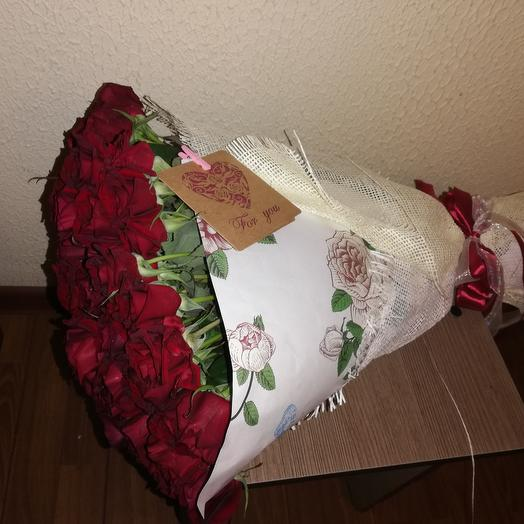 A bouquet of Burgundy roses: flowers to order Flowwow