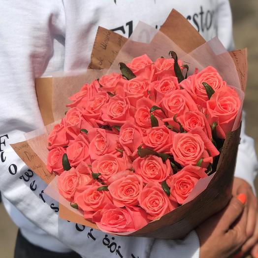 Розы. Букет из 29 роз. N509: букеты цветов на заказ Flowwow