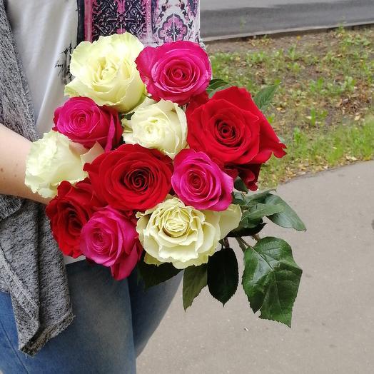 Букет 11 роз микс: букеты цветов на заказ Flowwow