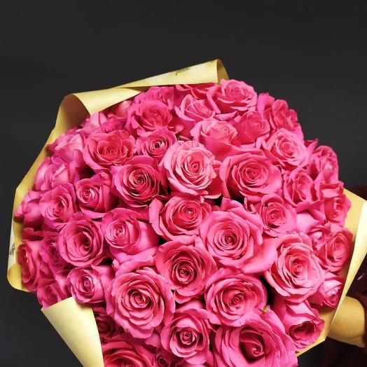51 роза Pink Floyd в крафте