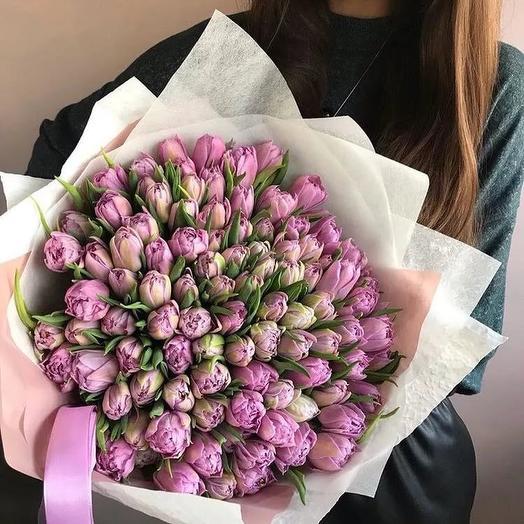 149 пионовидных Тюльпанов: букеты цветов на заказ Flowwow