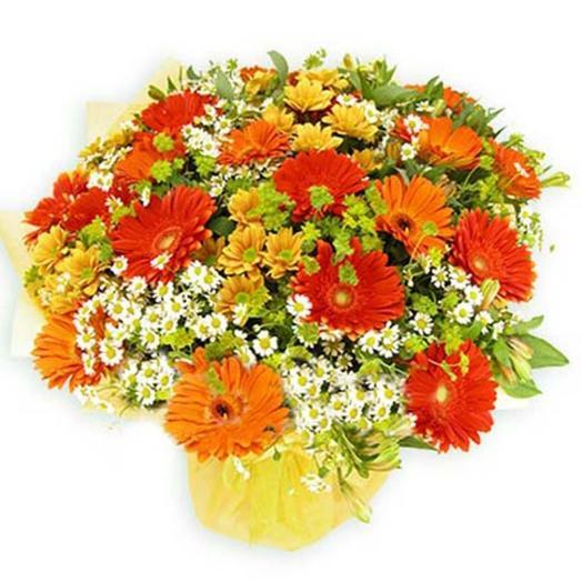 "Букет из гербер ""Фиона"": букеты цветов на заказ Flowwow"