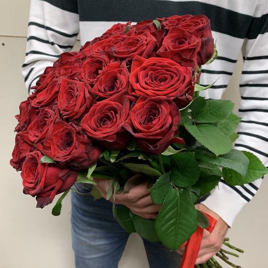 Букет из 29 красных роз 60 см: букеты цветов на заказ Flowwow