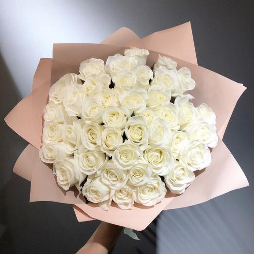 "Букет роз ""Воздушное безе"": букеты цветов на заказ Flowwow"