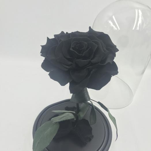 Черная роза в колбе KING: букеты цветов на заказ Flowwow