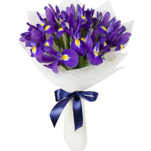 Ирисы 11 шт: букеты цветов на заказ Flowwow