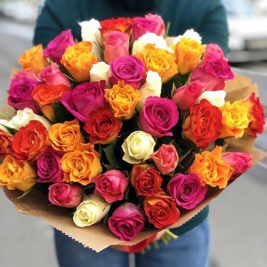 49 кенийский роз микс: букеты цветов на заказ Flowwow