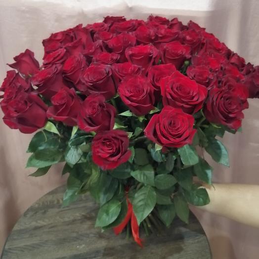Букет из 49 эквадорских роз