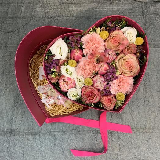 Сердце для тебя 💕: букеты цветов на заказ Flowwow