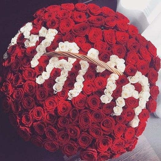 """301 роза """"Мама"""": букеты цветов на заказ Flowwow"""