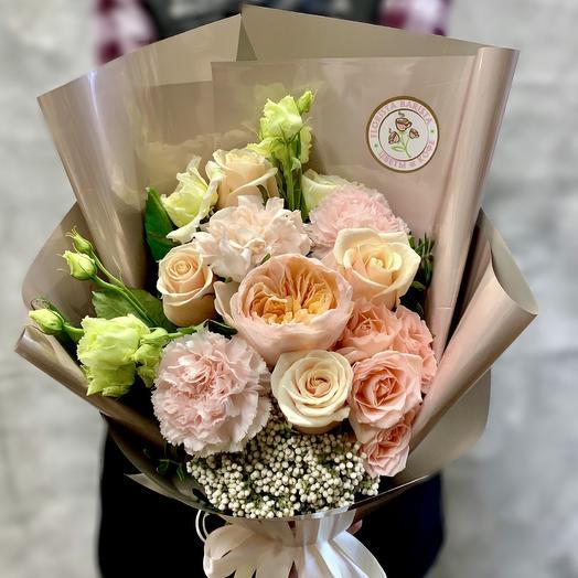Нежный букет«Персиковое наслаждение»: букеты цветов на заказ Flowwow