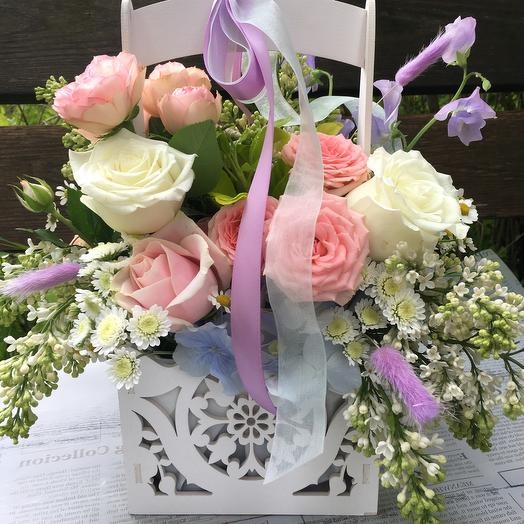 Кружевной балкон: букеты цветов на заказ Flowwow