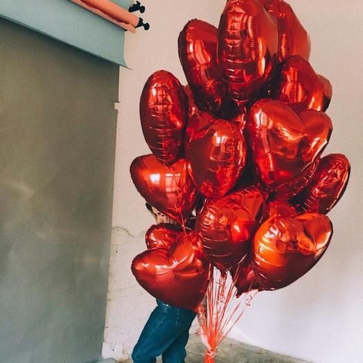 19 шаров сердце