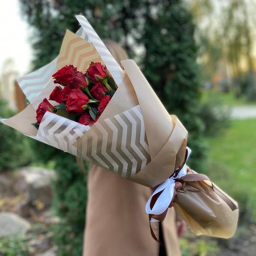 Букет из роз «Огненная любовь»