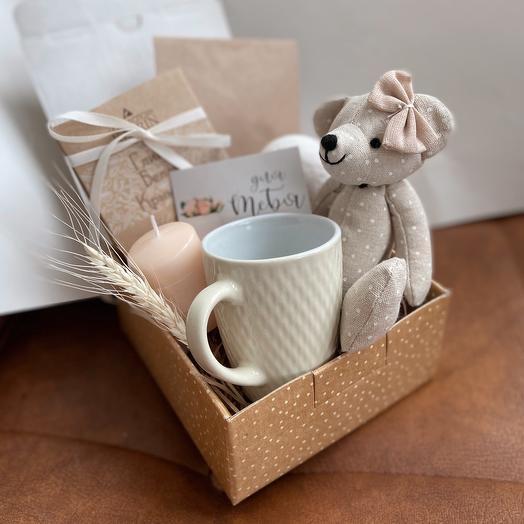 Подарочный бокс с мишкой