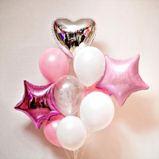 Фонтан шаров Розовая феерия