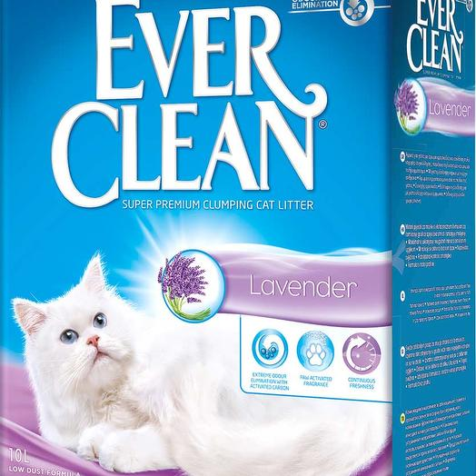 Ever Clean Lavender наполнитель бентонит лаванда 10 кг 10 л