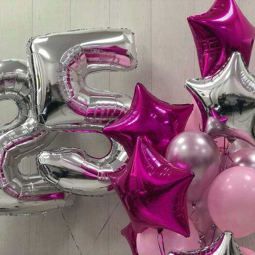 Шары на день рождения «Малиновый бриз»
