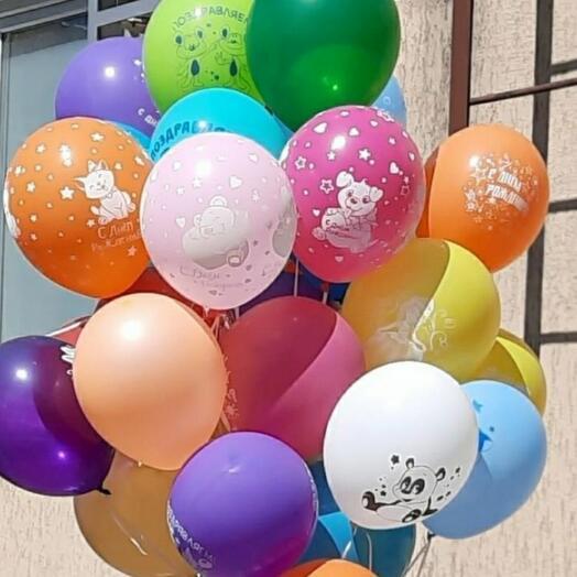 Гелиевые шары со цверушками