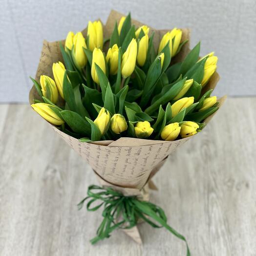 Монобукет из тюльпанов
