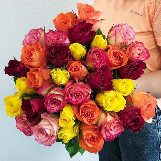 35 Роз 4 цвета