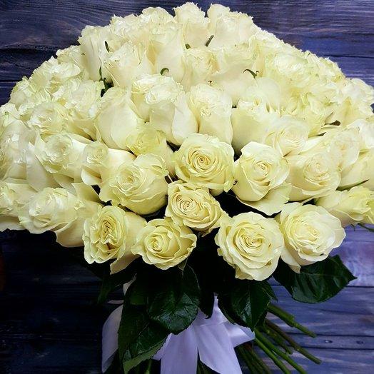 Букет из 101 розы Мондиаль 60см